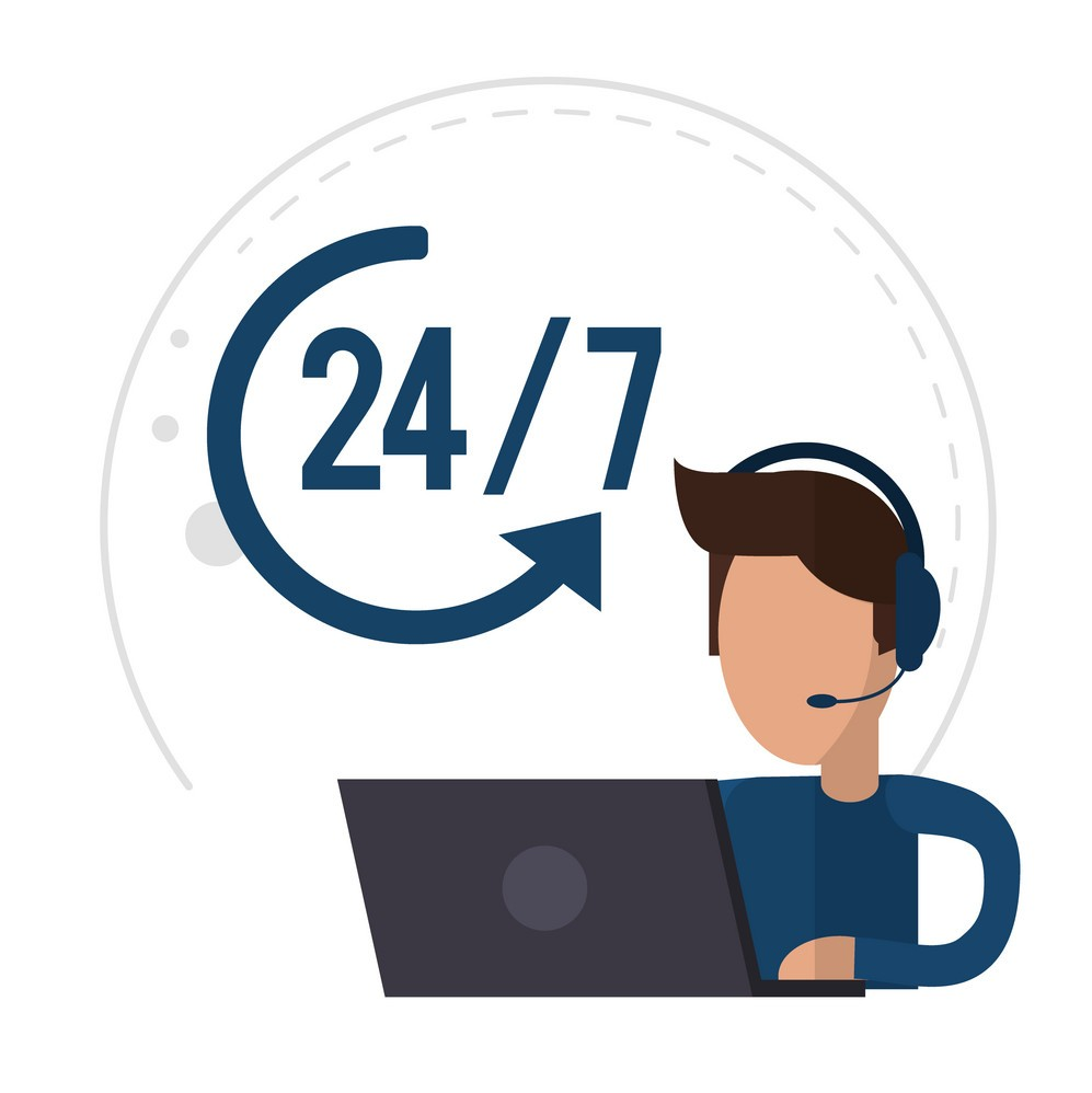character-male-call-center-support-24-7-vector-14328676